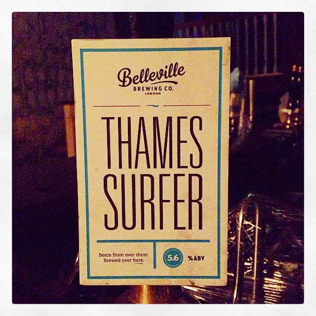 We love you Belleville! Come in quick for their Thames Surfer IPA at 5.6% #wandsworth #craftbeer