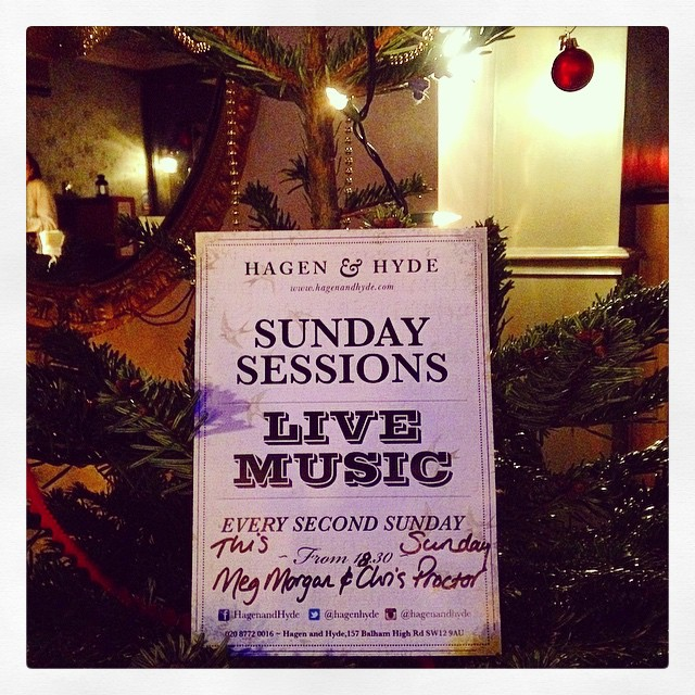 Our next Sunday Session is THIS SUNDAY! We have the lovely Meg Morgan and Chris Proctor in from 6.30, come down and have a sing-a-long with us! #livemusic #balham