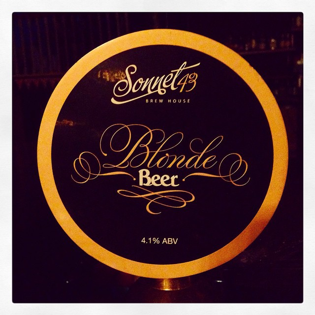 The lovely Blonde Beer from Sonnet 43 Brew House, Co. Durham #craftbeer #englishbeers