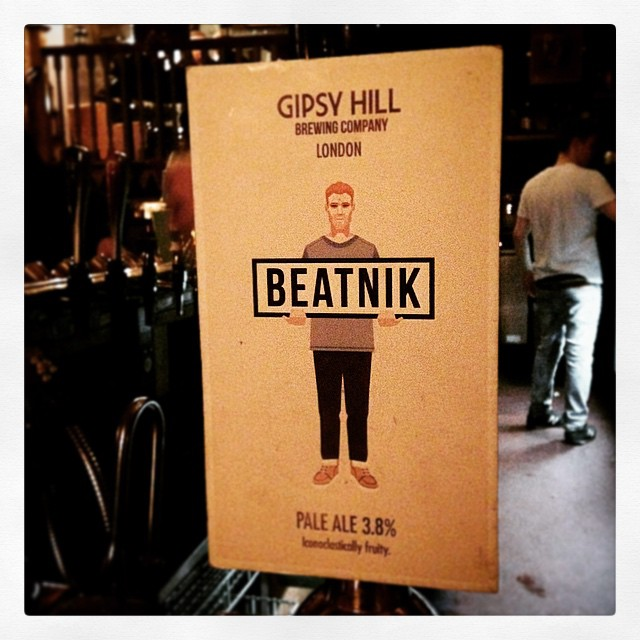 One the pumps! Gipsy Hill Brewing's Beatnik 3.8% pale ale