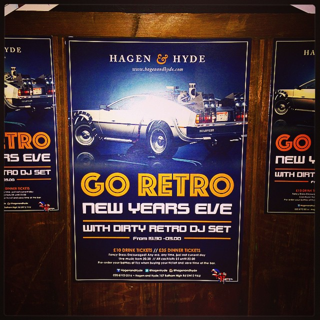 NYE TICKETS NOW ON SALE! £10 drinks & £35 dinner tickets. Featuring Dirty Retro DJ set and live music! Open til 3am. Fancy dress encouraged - any time, any era just not current day!