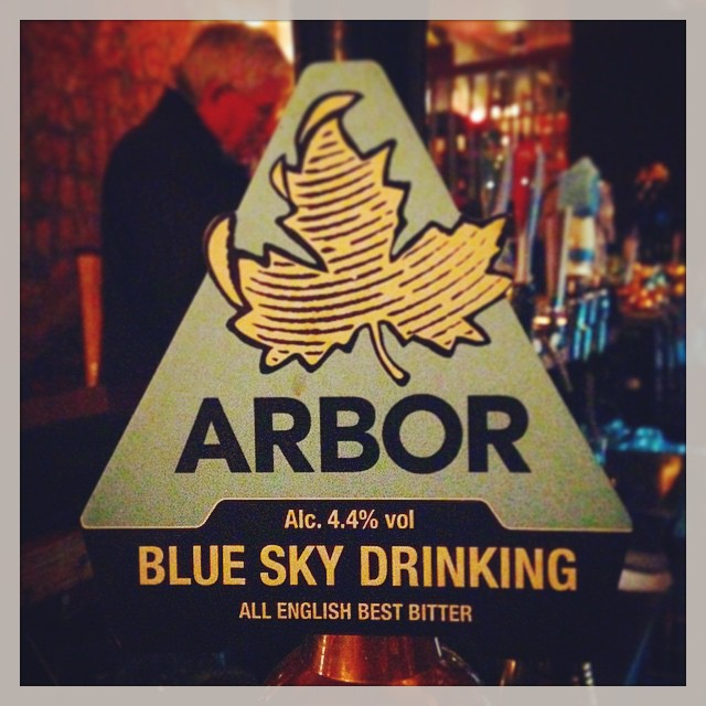 On the pumps: #arbor Blue Sky Drinking, All English Best Bitter, 4.4%