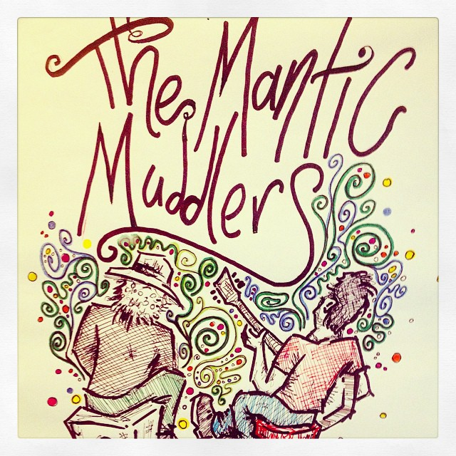 Awesome artwork, awesome band! #manticmuddlers with us this Sunday from 7pm!